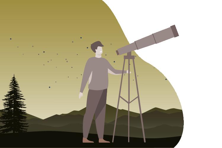 il·lustració sobre ciència jove